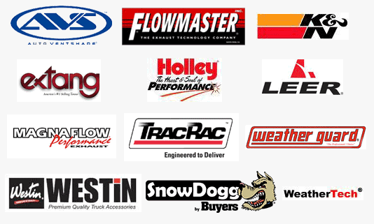 Specialty Truck and Auto featured brands including Leer caps, Flowmaster, TracRac, Westin and WeatherTech